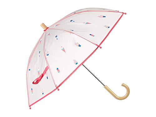 Hatley Mädchen Printed Umbrellas Regenschirm, Weiß (Cool Treats 100), One size