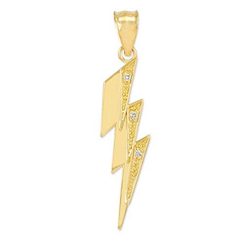 Piccoli Tesori - Collanae Pendente - - 14 ct Oro 585/1000 Coup de Diamantes Tonnerre- con