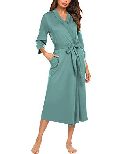Soft Long Women Kimono Bathrobe and Sleepwear