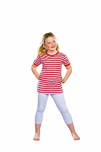 Festartikel Müller Kurzarm-T-Shirt, rot/weiß gestreift Größe 152