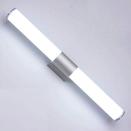 JPL Lámparas novedosas, luces de espejo LED Siet, luz de pared de baño de 6000 K, lámpara de espejo de baño de aluminio + acrílico, luz de maquillaje, sin parpadeo, accesorio de iluminación de...
