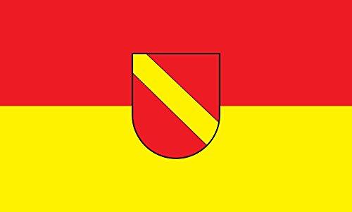 Unbekannt magFlags Tisch-Fahne/Tisch-Flagge: Neuenburg am Rhein 15x25cm inkl. Tisch-Ständer