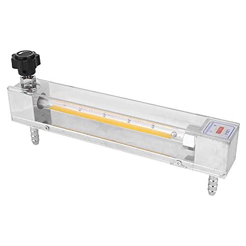 Transparente Vidrio Tubo Medidor de corriente, Digital Medidor de corriente Líquido 23.5x10.5x3.5 cm 4-40L/H con El plastico y Metal por Ácido & Alcalino Líquido 4-40L / H