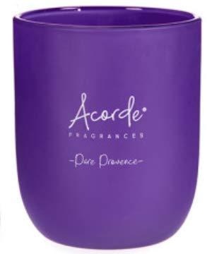 120 g de velas perfumadas con orquídeas, lavanda, fresas y nata, diseño de té verde (lavanda)
