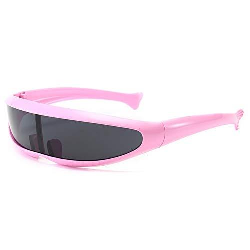 WJBABJ Ciclismo Gafas Al Aire Libre de la Motocicleta Gafas Anti-UV de protección Ocular Gafas de Sol Gafas Accesorios de Bicicletas (Color : Pink)