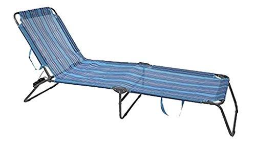 Tumbona Plegable y Reclinable para Playa y Piscina con Bandolera para Transportar...