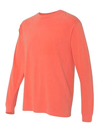 Comfort Colors 6014 Adult Heavyweight Ringspun Long Sleeve T-Shirt - Bright Salmon - L
