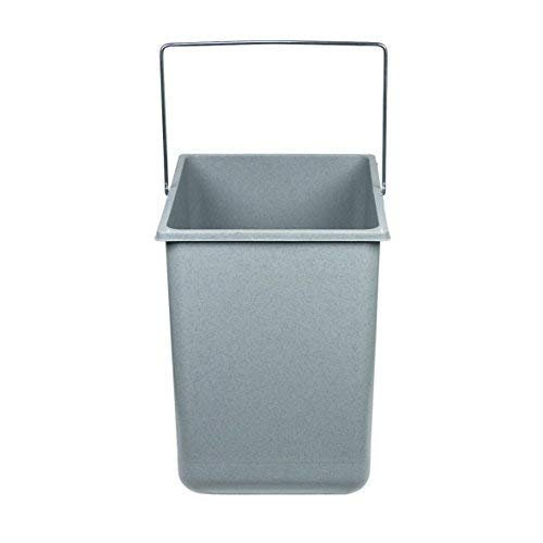 Hailo Inneneimer 18 Liter Kunststoff hellgrau mit Henkel verchromt Abfallsammler, Plastik, 31.6 x 22.6 x 28.6 cm