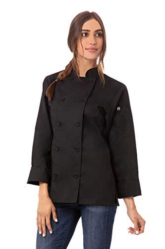 Chef Works Women's Sofia Chef Coat, Black, X-Large