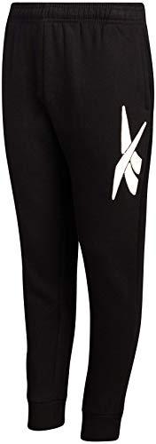 Reebok Boys Athletic Fleece Jogger Pants, Size Medium, Pure Black