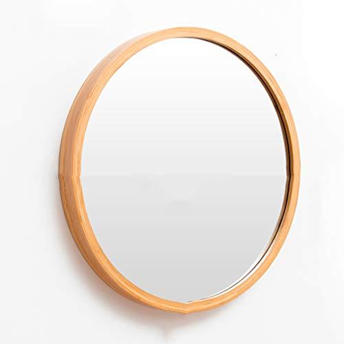 Stickers muraux Miroir suspendu Nordic Salle de bains Épaissir Miroir Miroir Miroir Miroir de salle de bains Tenture murale Toilettes Salle de bains Miroir rond Diamètre 48cm