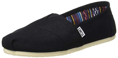 Toms Women's Classic Canvas (Black,On,Black) Slip-on Shoe - 5 B(M) US