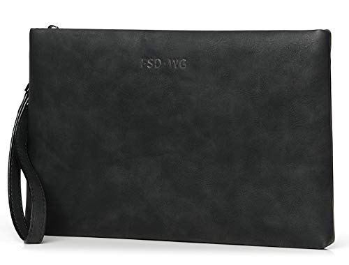 FSD.WG クラッチバック メンズ レザー セカンドバッグ 手持ちバック 小さめ 紳士鞄 着脱ベルト付き パーティー メンズバッグ ラージサイズ【正規品 】