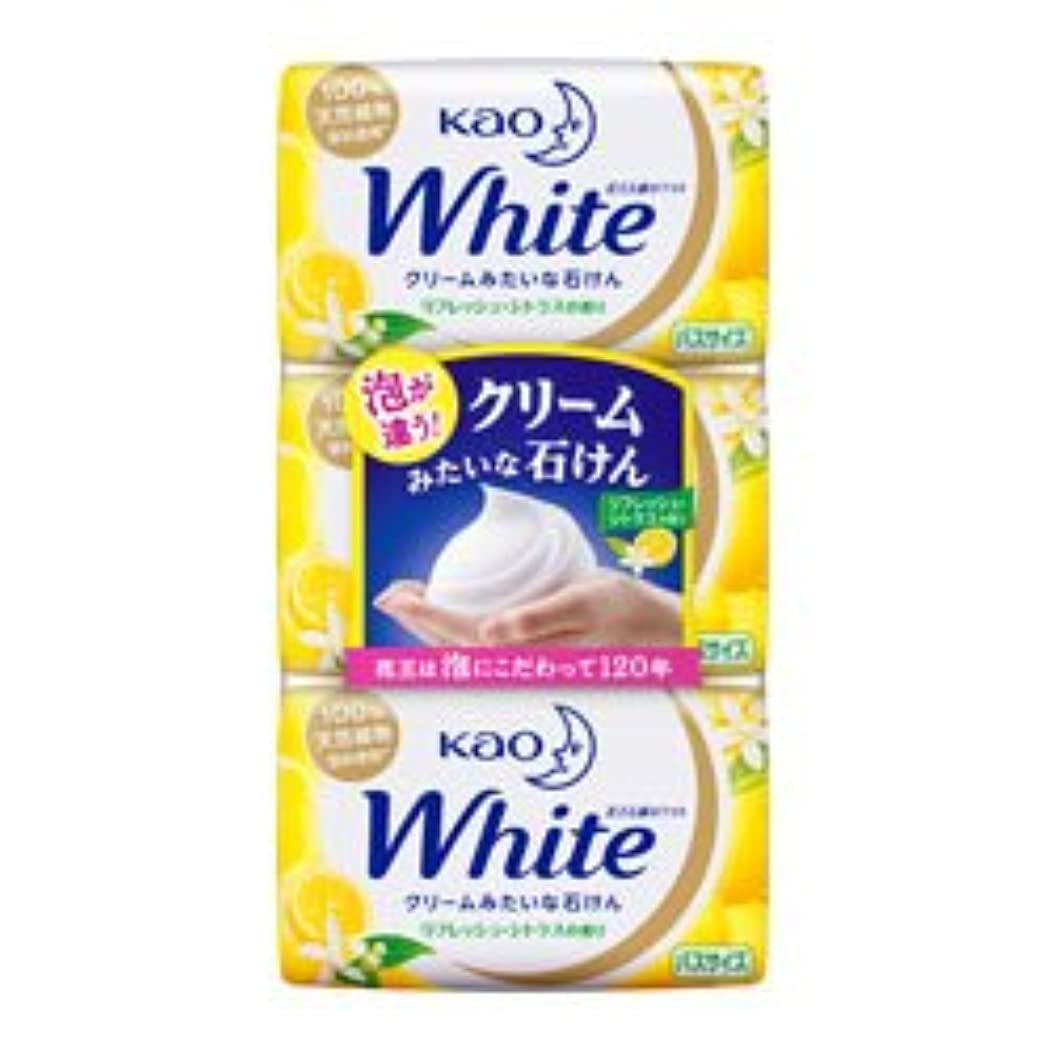 熱帯の見せます金属【花王】ホワイト リフレッシュ?シトラスの香り バスサイズ 130g×3個入 ×20個セット