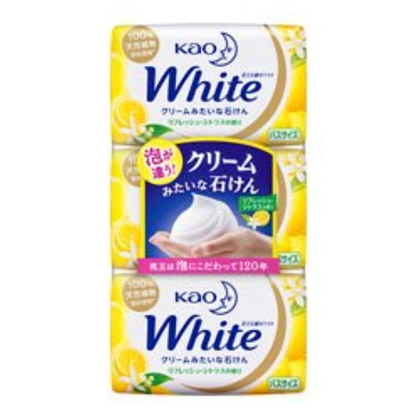 矩形軽に勝る【花王】ホワイト リフレッシュ?シトラスの香り バスサイズ 130g×3個入 ×20個セット