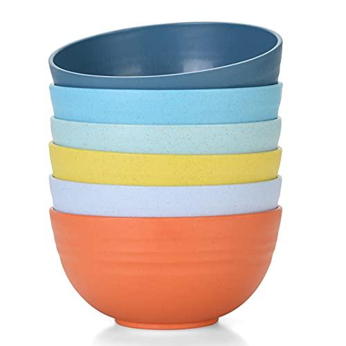 Unbreakable Cereal Bowls 24 OZ Microwave and Dishwasher Safe BPA Free Bowl Dessert Bowls for Serving...