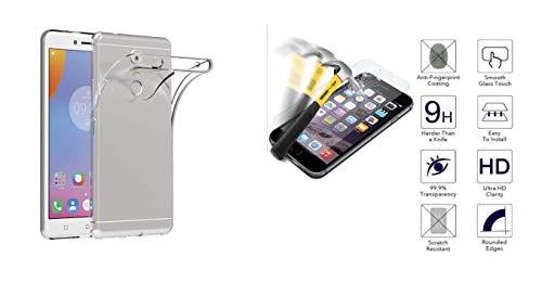 compatibile per MEIZU M6T (schermo 5.7) M811Q M811H COPERTURA Custodia Cover Case Soft Slim protezione Gel Silicone Morbida TPU + Pellicola Vetro TEMPERATO 9H Antiurto (Trasparente)