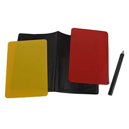 MeterBew1147 Fútbol Fútbol Árbitro Tarjetas Voleibol Fútbol Deporte Monedero Cuaderno de puntuación Juego de lápices Promoción de Ventas Venta al por Mayor Nueva Marca - Rojo, Amarillo
