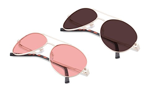 (Bundle) TheraSpecs Pilot Blue Light Glasses for Migraine, Light Sensitivity