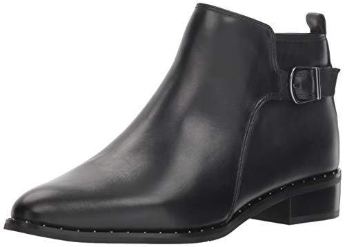 Blondo Women's Tami Ankle Boot, Black Leather, 9 M US