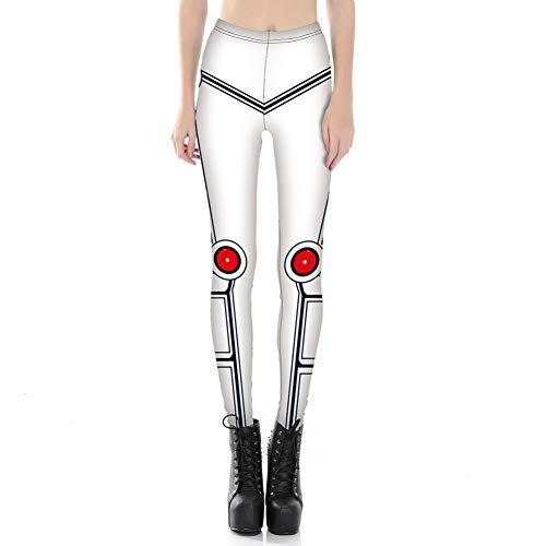 YUJIAKU Yoga broek/strak/Abdominale oefening running yoga leggings Digitale Print Knie Rode Dot Robot Slim Gestreepte Skinny Leggings