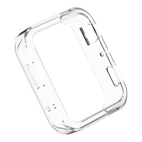 perfk Funda Protectora para Mi Smartwatch Android/Resistente al Sudor, Blanco Claro