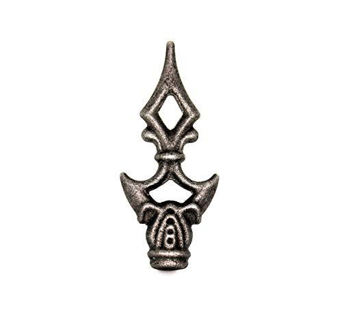 UHRIG ® ZAUNSPITZE Zierspitze für schmiedeeisen Zaun Stahl Eisen (Zaunspitze 110x50mm #410)