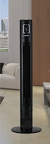 Excelife LF-45R Tower Fan with Remote Control, 45', Black