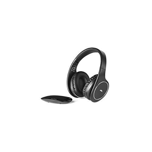 Meliconi HP Easy - Cuffia stereo senza fili con base trasmittente, Nero