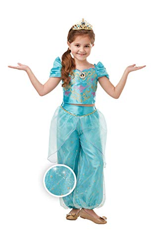 Rubiess- Princesa Disney Jasmine Aladdin Disfraz, Multicolor, Medium Age 5-6 Years (Rubie's 300166