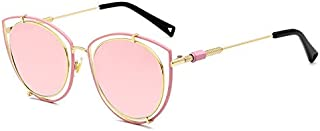 Sunglasses Fashion Accessories Cat's Eye Style Sunglasses Personality Style Metal Paint UV Protection Sunglasses (Color : Pink)