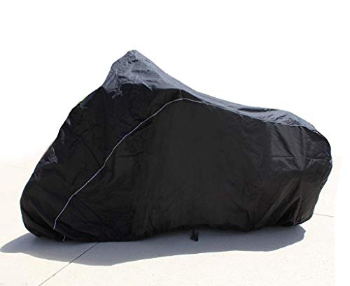 SUPER HEAVY-DUTY BIKE MOTORCYCLE COVER FITS Harley-Davidson FXDL/FXDLI Dyna Low Rider. STRONG UV PROTECTIVE CHOPPER BIKE TARP. Breathable and Portable Vehicle Protection