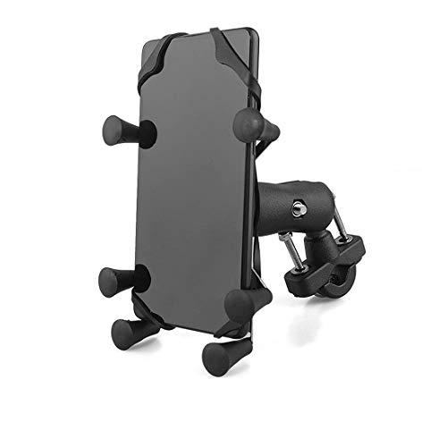 Soporte para Teléfono Celular para Moto, Soporte Universal para Montaje en GPS Soporte para Teléfono Inteligente 3.5 ''- 6.5 '' para Motocicleta Bicicleta Manillar Soporte para Teléfono móvil
