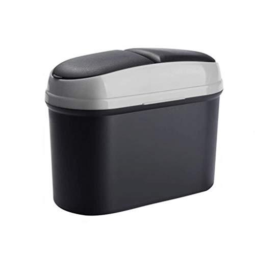 Auto-vuilnisbak voor het creatieve opbergen van afvalemmers.