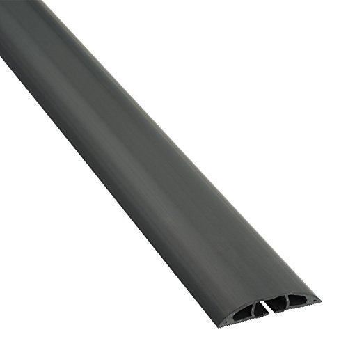 D-Line Fussboden Kabelkanal Stolperschutz CC-1, Light Duty Boden Kabelschutz 60mm breit x 1,8m Länge – Schwarz