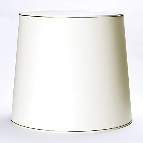 Abat-jour de rechange en tissu avec support supérieur de 50 cm et bord doré de 12 mm