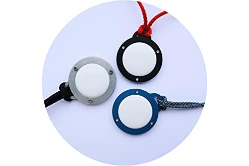 Roboterwerk AirTag Safe Case - Etiqueta para llaves / bolsos / equipaje de aluminio anodizado opcionalmente negro/azul/plata/antracita/rojo, incluye 3 opciones de fijación