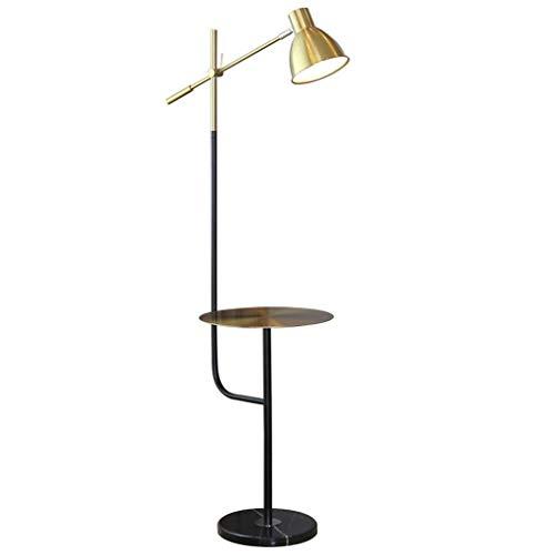 Lámpara de pie de latón creativo Yyqx, lámpara de pie para sala de estar, dormitorio, lámpara de mesa, lámpara de pie, lámpara de poste interior