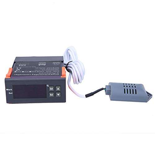Controlador de humedad del aire - Controlador de control de humedad del aire digital de 220V Rango 1% -99% RH Sensor tipo HM-40