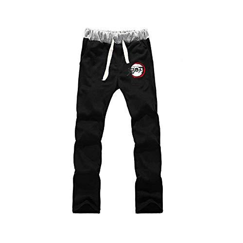 Jogger Pantalones Deportivos Anime Demon Slayer Cosplay Disfraz Largos Sweat Pants Trousers con Bolsillos XL