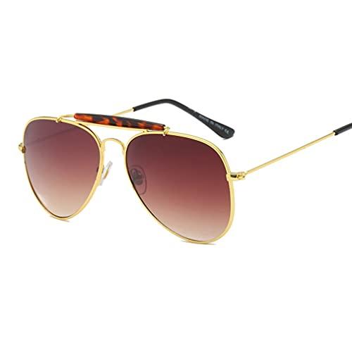 Gafas de sol de aviación Anillo de metal Diseño de la marca Gafas de sol con cubierta para unisex y resistente a los rayos UV, cómodo de usar, moda de alta gama, lente de resina marco de metal 4 color