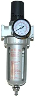 TCP Global Brand Professional Air Filter and Regulator Control Unit with Gauge (1/4