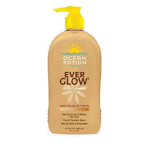 Ocean Potion - ever glow self tanning lotion - 20.5 Ounces - 2 Pack