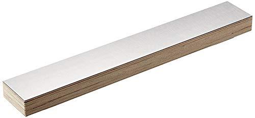 Xamonia® ML-MPX Barra magnética, Soporte para Cuchillos de Madera, Tablero múltiplex Certificado FSC Recubierto con laminados Decorativos con Fuertes imanes de neodimio, 36 cm Laminado de Aluminio