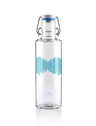 soulbottles 0,6l • Water is a Human Right • Trinkflasche aus Glas • nachhaltig, vegan, plastikfrei