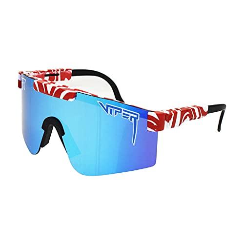 JLJLJL Gafas de Ciclismo, Gafas de Sol Deportivas polarizadas Unisex TR90 Frame para Ciclismo Corriendo Pesca de Pesca Golf Gafas de Béisbol C2