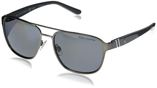 Ralph Lauren POLO 0PH3125 Gafas de sol, Matte Gunmetal, 57 para Hombre