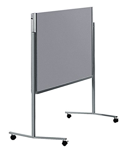 Legamaster 7-205500 Moderationswand Premium klappbar mobil 120 x 150 cm, filzbespannt, grau