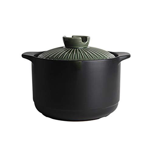 SCSBJ Casserole Keramische Huishoudelijke Kookpot met Deksel Geschikt voor Alle soorten Kookplaten Niet Inclusief Inductie Cooker Soeppot Grote Capaciteit Hittebestendige Pot Rijst Pap Pot