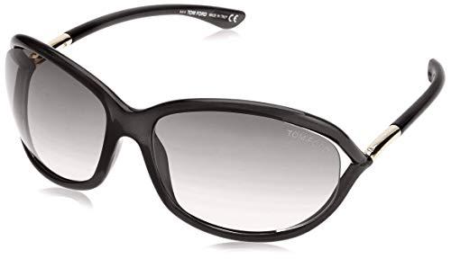 Tom Ford Damen FT0008 01D 61 Sonnenbrille, Schwarz (Nero Lucido/Fumo Polar)